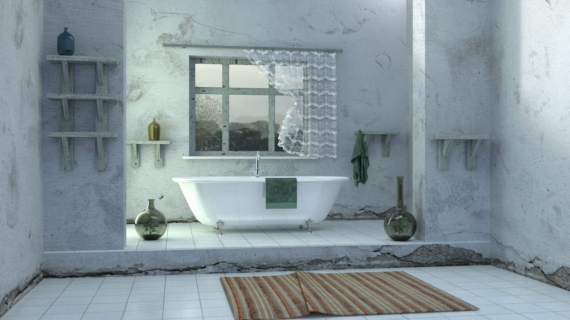 Bathrooms 3d design shop for 3d wallpaper for bathroom